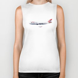 British Airways 747 Biker Tank