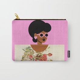 Pink Sunglasses Girl Carry-All Pouch