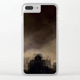 Glasgow dusk Clear iPhone Case