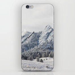 Frosty Flatirons iPhone Skin