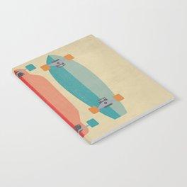 Three types of skateboards Notebook