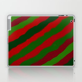 Red and Green Christmas Wrapping Paper Laptop & iPad Skin