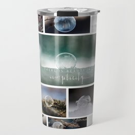 Simplistic Beauty Bubble Collage Travel Mug