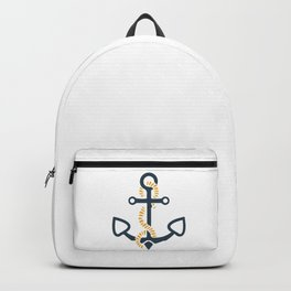 Anchor Ahoi Sailorboat marina Backpack
