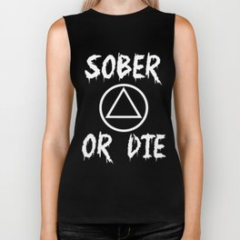 Sober Or Die A.A. Biker Tank