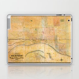 Map of the City of Memphis, Tennessee (1858) Laptop & iPad Skin