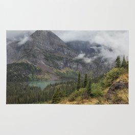 Grinnell Lake from the Trail No. 1 - Glacier NP Rug