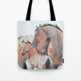 Mother's Love Appaloosa Horses Tote Bag