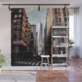 Lower Manhattan One WTC Wall Mural