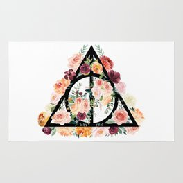 Watercolor Deathly Hallows Rug