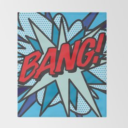 Comic Book Pop Art BANG! Throw Blanket
