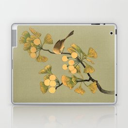 Bird in Ginkgo Tree Laptop & iPad Skin