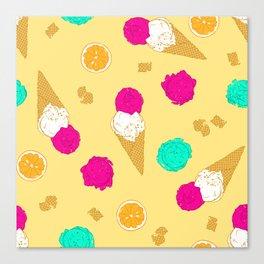 Ice-cream baby Canvas Print