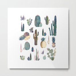My best Cactus and Pineapples!!!! Metal Print