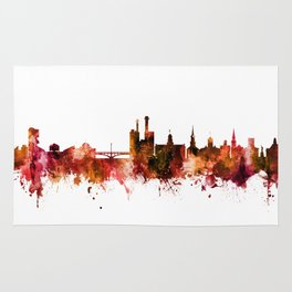 Iowa City Iowa Skyline Rug