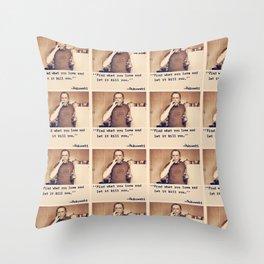 Charles Bukowski Quotes Throw Pillow