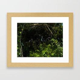 green secret Framed Art Print