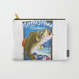 Loch Ness Scotland Fishing travel poster Carry-All Pouch