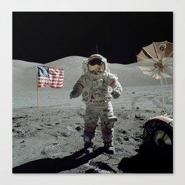 Apollo 17 - Last Man On The Moon Canvas Print