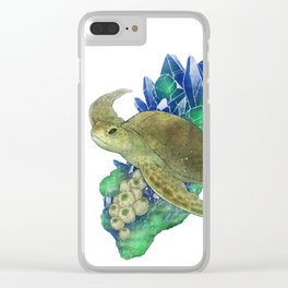 Sea Turtle and Azurite Clear iPhone Case