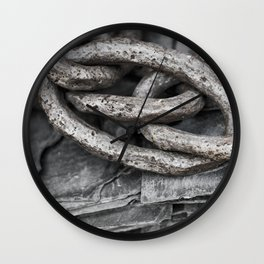 Vintage Chains and Slate Wall Clock