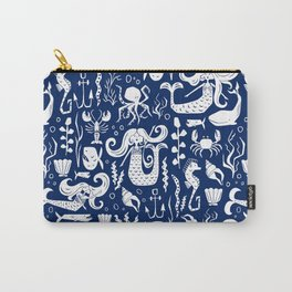 Under The Sea Navy Blue Carry-All Pouch