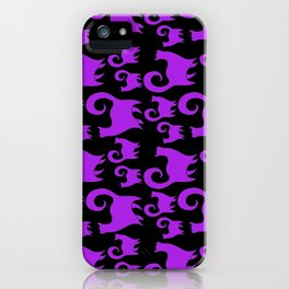 Purple Snobby Cats iPhone Case
