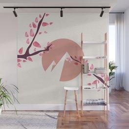 Mount Fuji Japan Sakura Tree Cherry Blossom Wall Mural