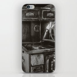 Monarch Stove Left Behind in a Ghost Town iPhone Skin