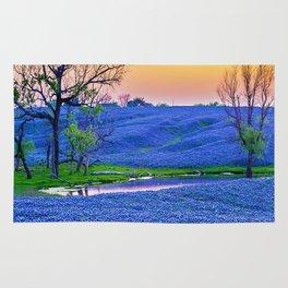 Bluebonnets Field Rug