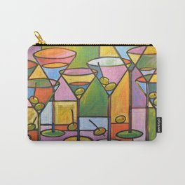 Abstract Art Wine Bar Alcohol Painting ... Martinis and Olives Carry-All Pouch