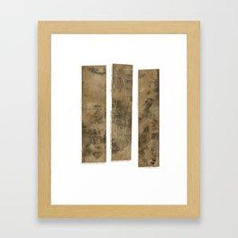 Planks Framed Art Print