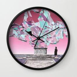 throw roses into the abyss Wall Clock