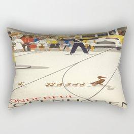 Vintage poster - Copenhagen Rectangular Pillow