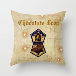 Chocolate Frog Throw Pillow