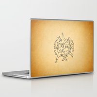 foo fighters Laptop & iPad Skins featuring The Fighters by Fat Brothers Tattoo Art Emporium