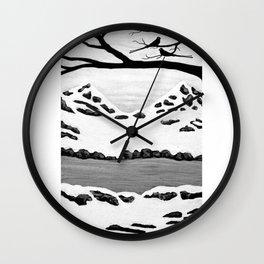 Scissortail Winter Wall Clock