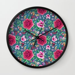 SPANISH ROSE Wall Clock
