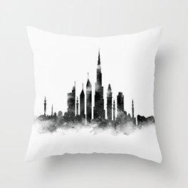 Dubai Skyline Throw Pillow