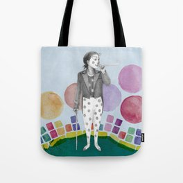 clown and lots of dots Tote Bag