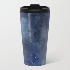 Night Sky Stars Galaxy | Watercolor Nebula Travel Mug