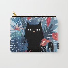 Popoki in Blue Carry-All Pouch