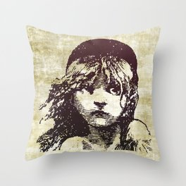 Les Miserables Girl Throw Pillow