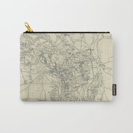 Vintage Map of Jerusalem Israel (1917) Carry-All Pouch