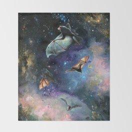 Scream of a Great Bat Throw Blanket