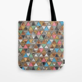 Geometric Rustic and Shabby Chic Tote Bag