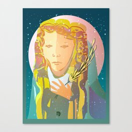 Virgo The Virgin / Zodiac Canvas Print