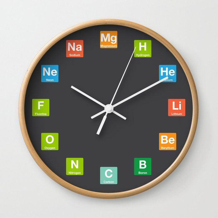 Chemistry Clock with Elements Wall Clock