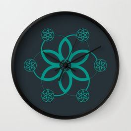 Evolution | Alien crop circle | Sacred geometry Wall Clock