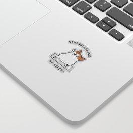 Strengthening My Coregi Sticker